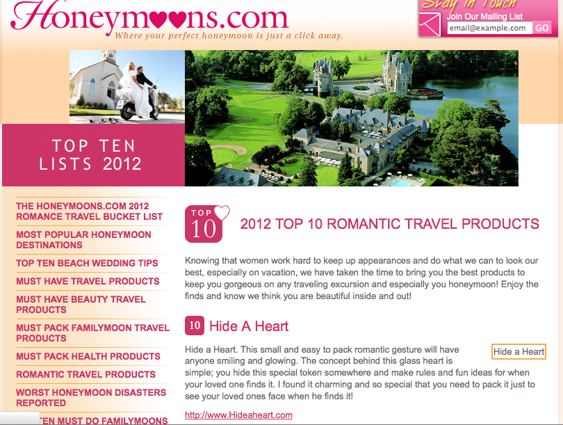 Win a Top 10 Romantic Product! (1/2)