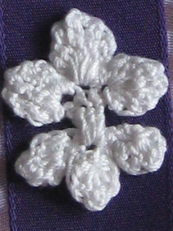 crochet fleur clear