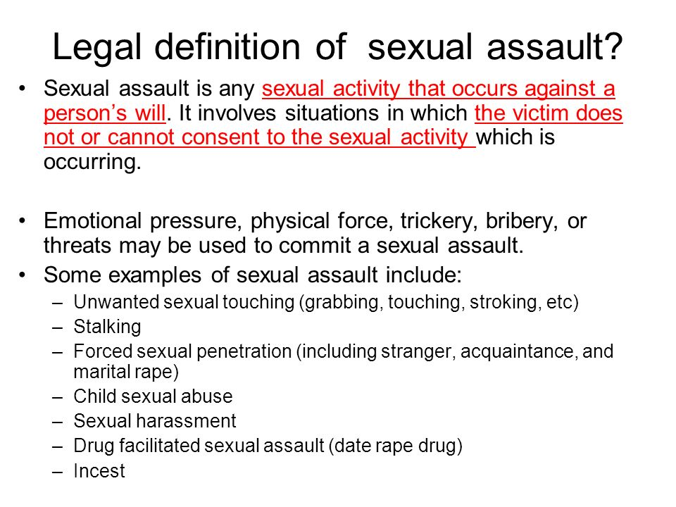 Definition of sexual activity